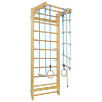 vidaXL Indoor Climbing Playset with Ladders Rings Wood