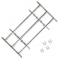 vidaXL Adjustable Security Grille for Windows with 3 Crossbars 500-650mm