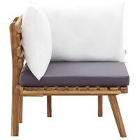 vidaXL Garden Corner Sofa with Cushions Solid Acacia Wood