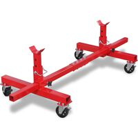 vidaXL Mobile Axle Stand Red