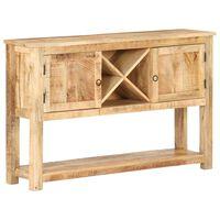 vidaXL Sideboard 120x30x76 cm Rough Mango Wood