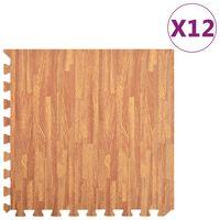 vidaXL Floor Mats 12 pcs Wood Grain 4.32 ㎡ EVA Foam