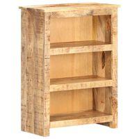 vidaXL Book Cabinet 59x30x80 cm Rough Mango Wood