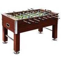 vidaXL Football Table Steel 60 kg 140x74.5x87.5 cm Brown