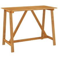 vidaXL Garden Bar Table 140x70x104 cm Solid Acacia Wood