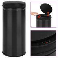 vidaXL Automatic Sensor Dustbin 80 L Carbon Steel Black