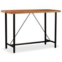 vidaXL Bar Table 150x70x107 cm Solid Acacia Wood