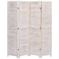 vidaXL 4-Panel Room Divider 140x165 cm Wood