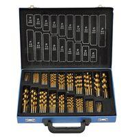 170-Piece Titanium Drill Bit Set in Metal Box HSS TI