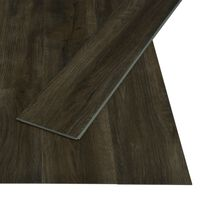 vidaXL Click Floor 3.51 m² 4 mm PVC Dark Brown