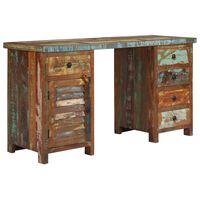 vidaXL Pedestal Desk Solid Reclaimed Wood 140x50x77 cm