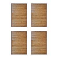 vidaXL Bamboo Bath Mats 4 pcs 60 x 90 cm Brown