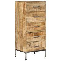 vidaXL Chest of Drawers 45x35x106 cm Solid Mango Wood