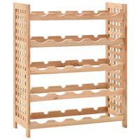 vidaXL Wine Rack for 25 Bottles Solid Walnut Wood 63x25x73 cm