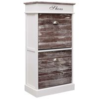 vidaXL Shoe Cabinet Brown 50x28x98 cm Paulownia Wood