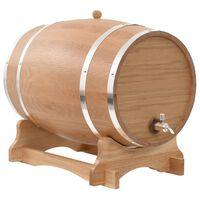 vidaXL Wine Barrel with Tap Solid Oak Wood 35 L