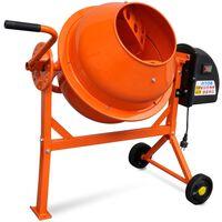 Electric Concrete Mixer 63 L 220 W Steel Orange