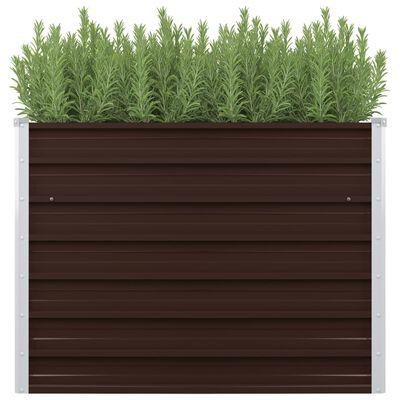 45719 vidaXL Garden Raised Bed Brown 100x40x77 cm Galvanised Steel