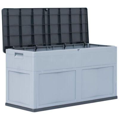 vidaXL Garden Storage Box 320 L Grey Black