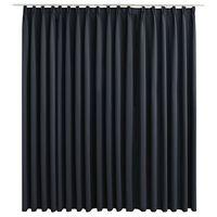 vidaXL Blackout Curtain with Hooks Black 290x245 cm