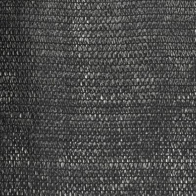 vidaXL Privacy Net HDPE 1.5x50 m Black