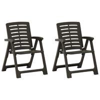 vidaXL Garden Chairs 2 pcs Plastic Anthracite