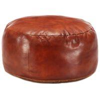 vidaXL Pouffe Tan 60x30 cm Genuine Goat Leather