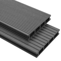 vidaXL WPC Decking Boards with Accessories 40 m² 4 m Grey