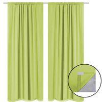 vidaXL Blackout Curtains 2 pcs Double Layer 140x245 cm Green