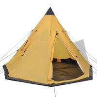 vidaXL 4-person Tent Yellow