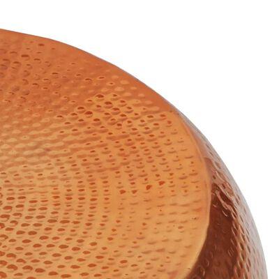 vidaXL Hammered Aluminium Coffee Table Brass/Copper Colour