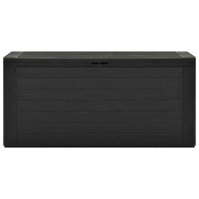 vidaXL Garden Storage Box Anthracite 116x44x55 cm