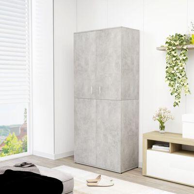 vidaXL Shoe Cabinet Concrete Grey 80x39x178 cm Chipboard