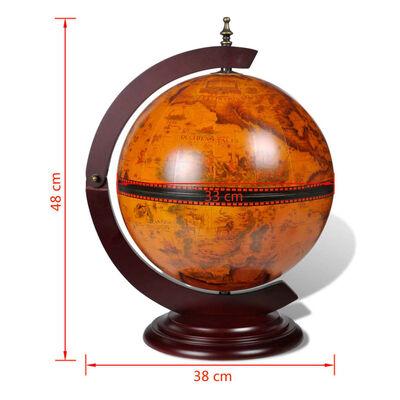 vidaXL Tabletop Globe Bar Wine Stand Eucalyptus Wood
