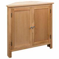 vidaXL Corner Cabinet 80x33.5x78 cm Solid Oak Wood