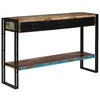 vidaXL Console Table Solid Reclaimed Wood 120x30x76 cm