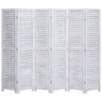 vidaXL 6-Panel Room Divider Grey 210x165 cm Wood