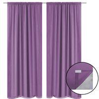 vidaXL Blackout Curtains 2 pcs Double Layer 140x245 cm Lilac