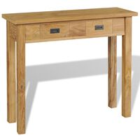 vidaXL Console Table Solid Teak 90x30x80 cm