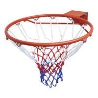 vidaXL Basketball Goal Hoop Set Rim with Net Orange 45 cm