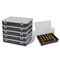 vidaXL Storage Box Sort Case 6 pcs