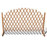 vidaXL Trellis Fence Solid Wood 180x100 cm