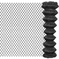 vidaXL Chain Link Fence Steel 15x1.5 m Grey