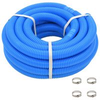 vidaXL Pool Hose with Clamps Blue 38 mm12 m