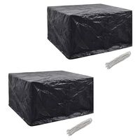 vidaXL Garden Furniture Covers 2 pcs 6 Person Poly Rattan Set 8 Eyelets 172x113cm