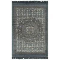 vidaXL Kilim Rug Cotton 120x180 cm with Pattern Grey