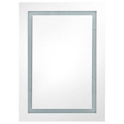 vidaXL LED Bathroom Mirror Cabinet 50x13x70 cm
