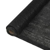 vidaXL Privacy Net HDPE 1.5x25 m Black