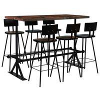 vidaXL Bar Set 7 Piece Solid Reclaimed Wood Multicolour