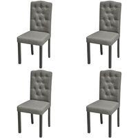 vidaXL Dining Chairs 4 pcs Light Grey Fabric